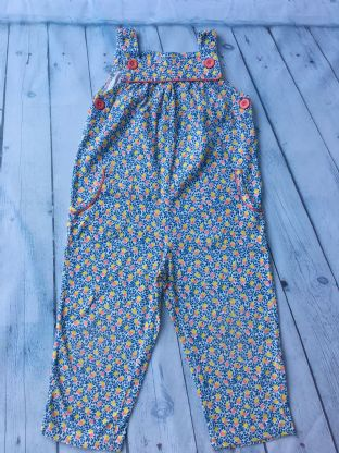 Mini Boden oranges and lemons pattern dungarees age 2-3